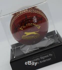 James Anderson Signé Cricket Autograph Ball Présentoir Angleterre Aftal Coa