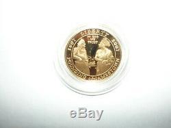Jamestown 400e Anniversaire D'or Commémorative 5 $ Proof Coin Coa, Cas D'affichage