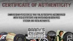 Jeff Gordon Et Jimmie Johnson Cartes Nascar Double Signed Cas D'affichage Avec Coa