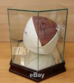 Jerry Rice Autographed Football San Francisco 49ers Signé Avec Présentoir & Coa