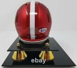 Jerry Rice Signé San Francisco 49ers Blaze Mini Helmet Coa 793 Display Case