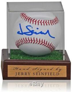 Jerry Seinfeld Signée À La Main Mlb Baseball En Cas D'affichage Aftal Coa