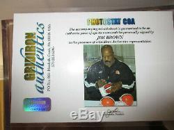 Jim Brown Autographed Browns Mini Casque Withcoa, Ltd Ed Football, Vitrine, DVD