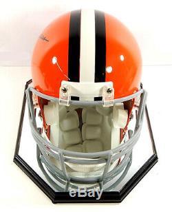 Jim Brown Hof 71 Signé Cleveland Browns Full Size Casque En Cas D'affichage Coa