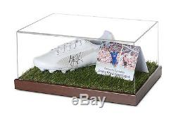Jimmy Floyd Hasselbaink Vitrine De Chaussure De Football Signée Chelsea Autograph Coa
