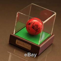 Jimmy White, Vitrine D'autographes Signée Snooker Ball Coa