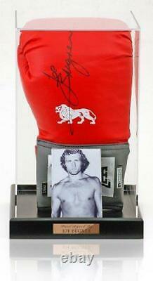Joe Bugner Main Signée Gant De Boxe Dans Acrylique Display Case Aftal Coa