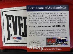 Joe Frazier Gant De Boxe Everlast Signé Autographié, Psa, Coa, Avec Vitrine D'exposition Gratuite