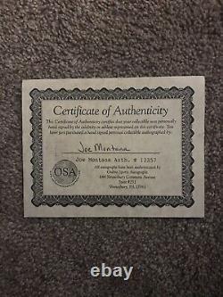 Joe Montana Autographié Mini Casque Avec Vitrine Et Coa Sf 49ers