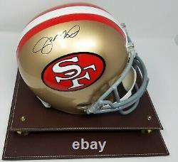 Joe Montana Signé San Francisco 49ers F/s Helmet Jsa Coa 777 Display Case