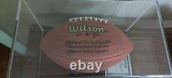 Joe Namath Autographié NFL Football Avec Vitrine - Coa