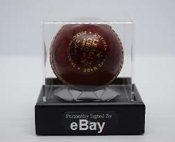 Joe Root Vitrine Autographe Signé Autographe Balle De Cricket Angleterre Sport Aftal Coa