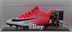 John Barnes Signé Autograph Football Boot Display Case Liverpool Aftal Coa
