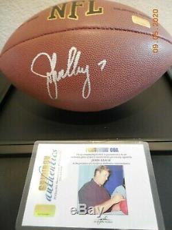 John Elway Autographed NFL Football Avec Affichage De Cas Et Coa Gia