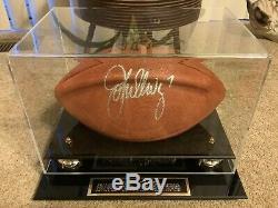 John Elway Autographed Officiel NFL Football Tagliabue Avec Affichage De Cas / MM Coa