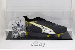 John Greig Signé Autograph Football Boot Display Case Rangers Aftal Coa