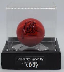 John Higgins A Signé Autographe Snooker Ball Display Case Champion Aftal Coa
