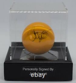John Parrott A Signé Autograph Snooker Ball Display Case Champion Aftal & Coa