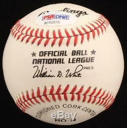 Johnny Bench Signé Onl Baseball Avec Vitrine (psa Coa)