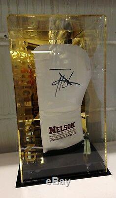 Johnny Nelson A Signé La Main Gant De Boxe Dans Une Vitrine Champion Du Monde Coa Rare