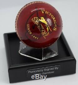 Jonny Bairstow Signé Cricket Autograph Ball Présentoir Angleterre Aftal Coa