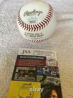 Justin Verlander A Signé La Série Mondiale De Baseball 2017 Avec Display Case. Jsa Coa