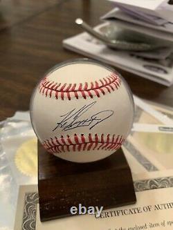 Ken Griffey Jr Autographed Baseball Withcoa Et L'affichage De Cas