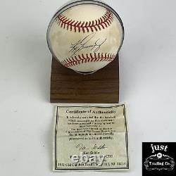 Ken Griffey Jr. Balle De Baseball Autographiée Avec Coa Et Boîtier D'affichage