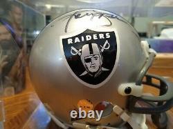Ken Stabler Oakland Raiders Hof Signé Mini Casque Avec Vitrine Avec Coa