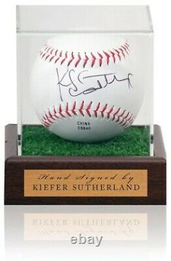 Kiefer Sutherland Main Signée Mlb Baseball In Display Case Aftal Coa