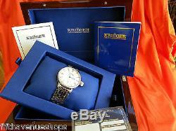 Krieger Montre Gigantium Diamond K7007 43 MM Vitrine Coa Celebrity Propriétaire 7k $