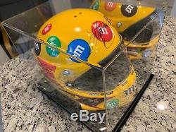 Kyle Busch Autographié Signé Full Size Helmet Jsa Coa, & Case D'affichage