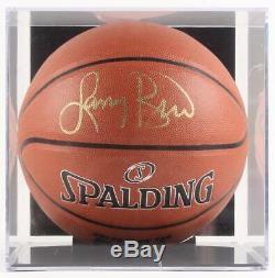 Larry Bird Basket-ball Signé Nba Avec Présentoir À Photos (psa Coa)