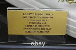Larry Bird Signé Converse Basketball Shoe With Display Case Celtics Psa Coa