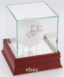 Larry Bird Signé Tiffany & Co. Crystal Ball / Vitrine De Haute Qualité Psa Coa