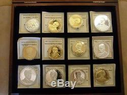Les Pièces Des Monnaies Américaines Des Présidents Des États-unis N ° 160 Dans Une Vitrine Nouvelle Avec Des Certificats D'authenticité