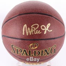 Magic Johnson Signé Basketball Avec L'affichage De Cas Et Nameplate (jsa Coa)