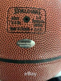 Magic Johnson Signé Basketball Avec Schwartz Coa Présentoir Nba Spalding Auto