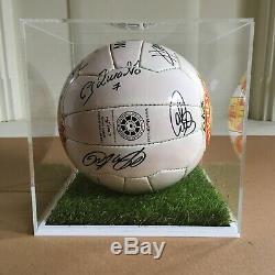 Manchester United 2003 Squad Signé Football Display Case & Coa Sir Alex