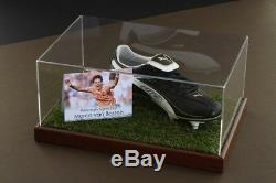 Marco Van Basten Etui D'affichage Pour Chaussures De Football Signé Holland, Autographe Néerlandais, Coa