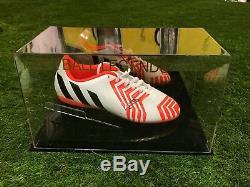 Marcus Rashford Signé Football Boot Manchester United Angleterre Présentoir Coa