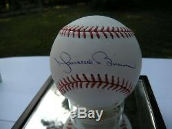 Mariano Rivera Dédicacé Baseball Avec Coa Hof 19 Avec Vitrine