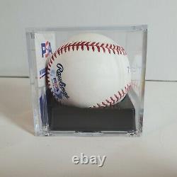 Mark Grace Autographié Mlb Signé Rawlings Baseball Psa Adn Cas D'affichage Coa