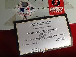 Mark Prior Autographié Officiel Mlb Caoutchouc Tangage Cubs 2003 Coa Et Vitrine