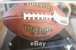 Marshall Faulk Rams Colts Authentique Signé NFL Football Avec Coa & Case D'affichage