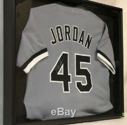 Michael Jordan Signe Birmingham Barons Jersey Withdisplay Case & Coa