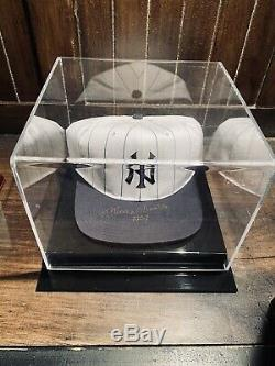 Mickey Mantle Rare Double Signé À New York Yankee Hat Coa