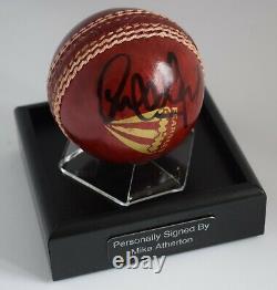 Mike Atherton A Signé Autograph Cricket Ball Display Case Angleterre Aftal Coa