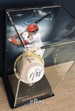 Mike Trout Coa Signé Au Baseball Autographié Et Vitrine Pour Fanatiques