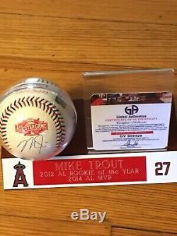 Mike Truite 3 Fois Mvp Signée 2015 Asg Mlb Baseball W Coa Et Cas D'affichage
